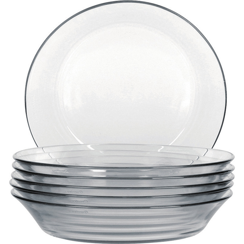 Prato de vidro fundo